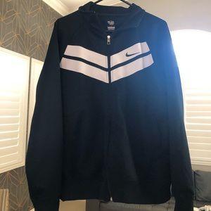Nike Navy and White Track Jacket